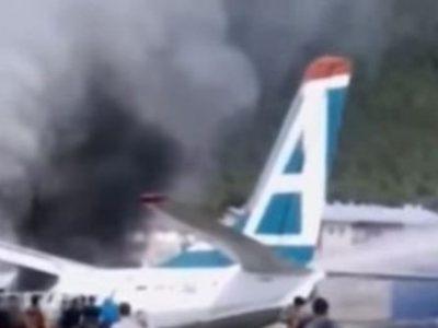 विमान दुर्घटनामा चालकको मृत्यु, ४३ यात्रु सकुशल