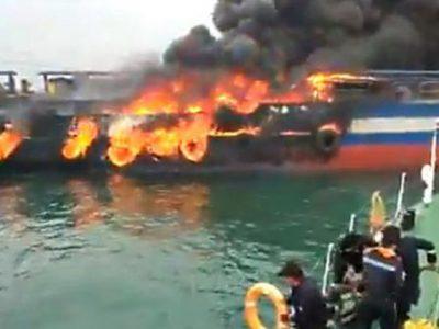 विसाखापट्टनममा तटरक्षक जहाजमा विस्फोट, चालक दलका २९ सदस्यहरु समुद्रमै हाम फाले