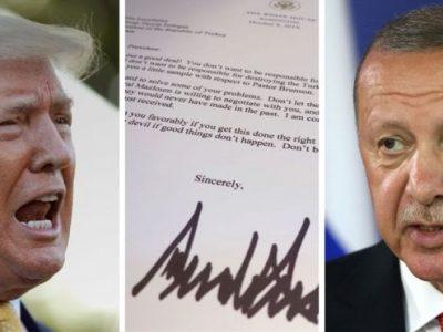 ट्रम्पको पत्र रद्दीको टोकरीमा फाले टर्कीका राष्ट्रपतिले