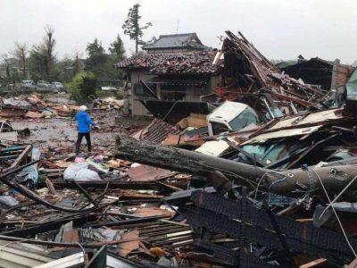 ताइफु कारण जापानमा १९ को मृत्यु, १६ बेपत्ता, सयौँ घाइते