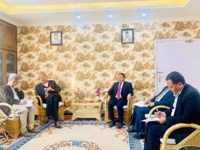 राष्ट्रिय गौरवका आयोजनाको अवस्था बारे उर्जा र अर्थमन्त्रालयका उच्च अधिकारीको बैठक