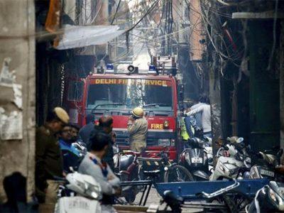 दिल्लीको झोला कारखाना आगलागीका मृतक संख्या ४३ पुग्यो