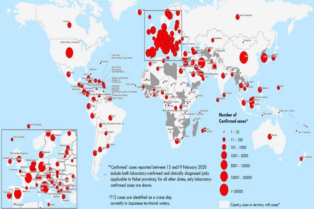 विश्वभर ९० लाखभन्दा बढी मानिसमा कोरोना भाइरसको संक्रमण
