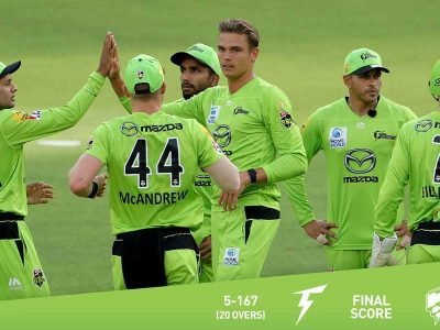 सन्दीपले विकेट लिएकाे खेलमा हाेवर्ट ३९ रनले पराजित