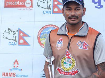 प्रधानमन्त्री कप क्रिकेटमा एपीएफको विजयी शुरुवात