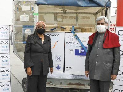 कोभ्याक्स सुविधाअन्तर्गत साढे ३ लाख डोज खोप नेपाल आइपुग्यो