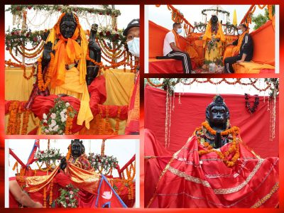 भव्य समारोहबीच राम सीताको मूर्ति प्रतिस्थापन