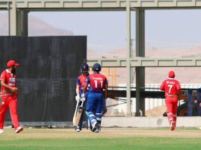 विश्वकप क्रिकेट लिग – २ : नेपाल ओमानसँग पाँच विकेटले पराजित