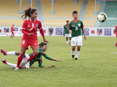 बंगलादेशविरुद्ध नेपाल २-१ ले विजयी