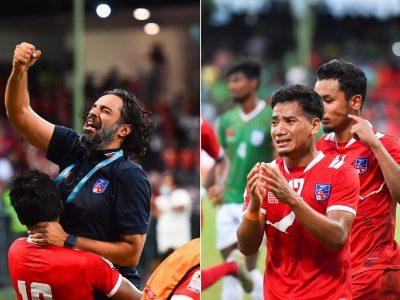 साफ च्याम्पियनसिपमा नेपाल पहिलाे पटक फाइनलमा